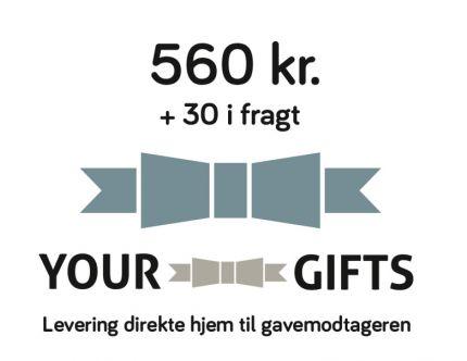 YourGifts Gavekort Kr. 560,- + Kr. 30,- i fragt
