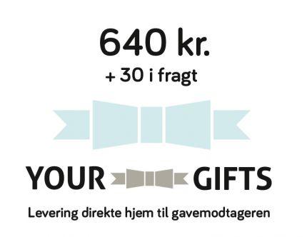 YourGifts Gavekort Kr. 640,- + Kr. 30,- i fragt