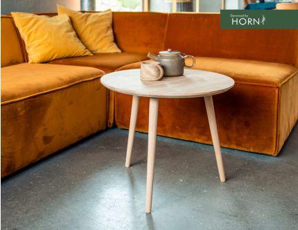 Denwood by Horn sofabord egetræ, Ø55 cm