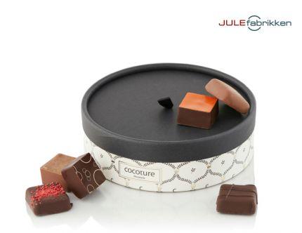Hatteæske med fyldt chokolade